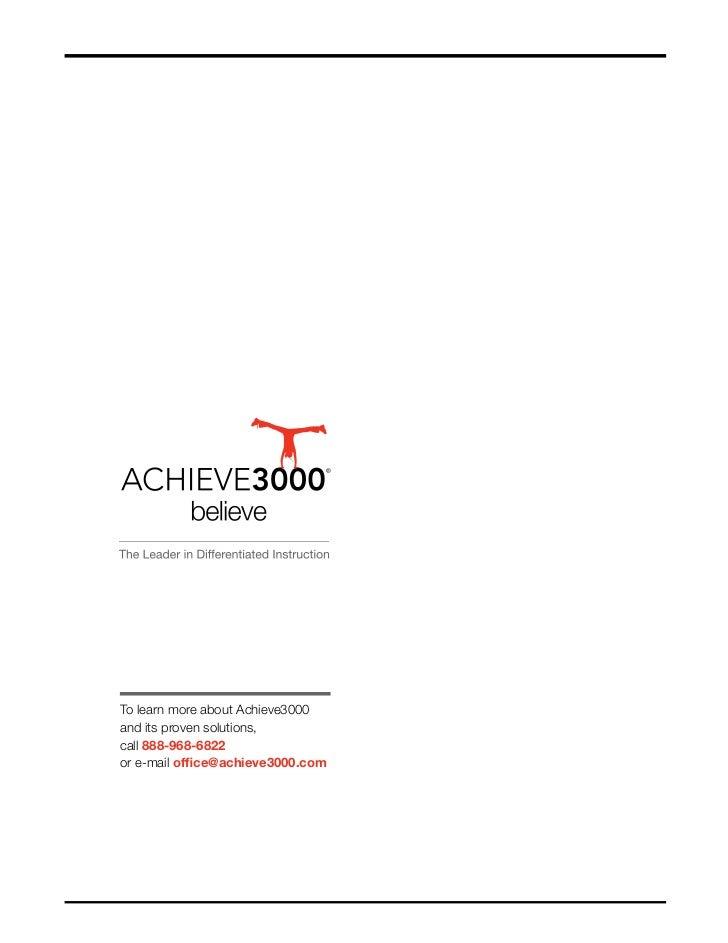 Achieve3000 National Lexile Study