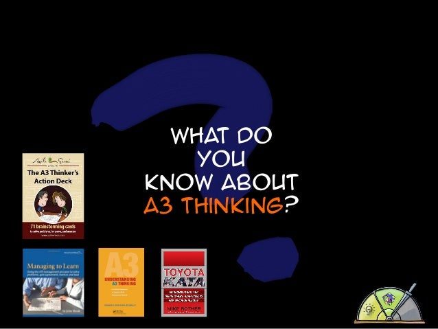 What do You know about A3 thinking?