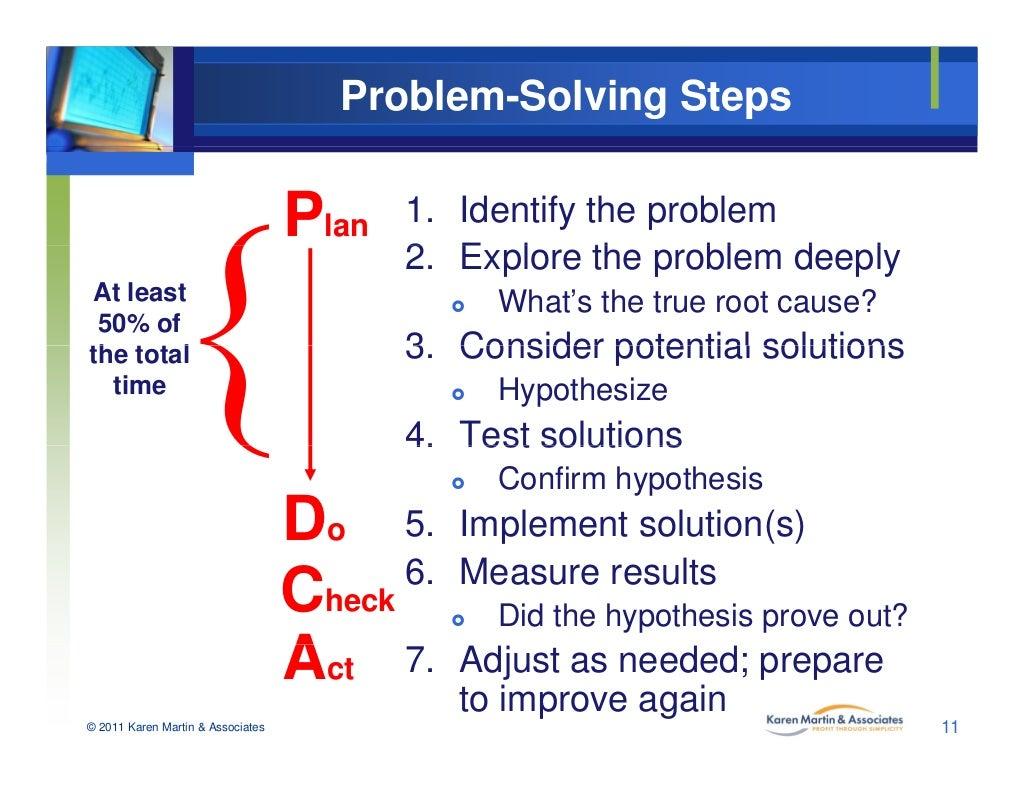 Problem Management: Problem-Solving Steps 1. Identify The