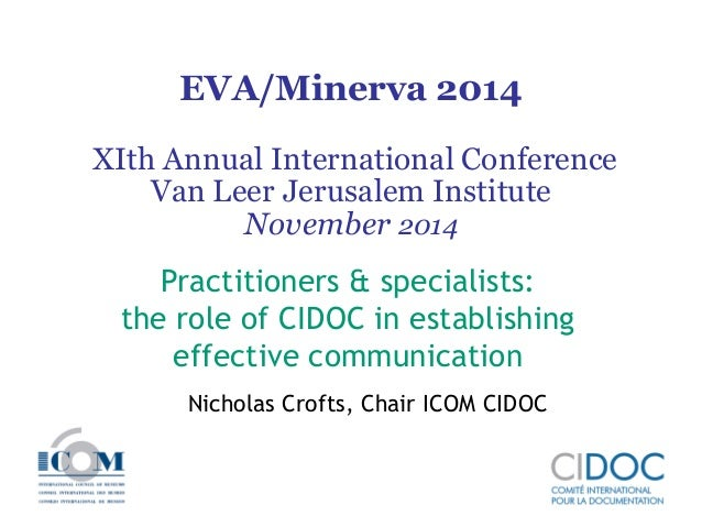 EVA/Minerva 2014 XIth Annual International Conference Van Leer Jerusalem Institute November 2014  Practitioners & speciali...