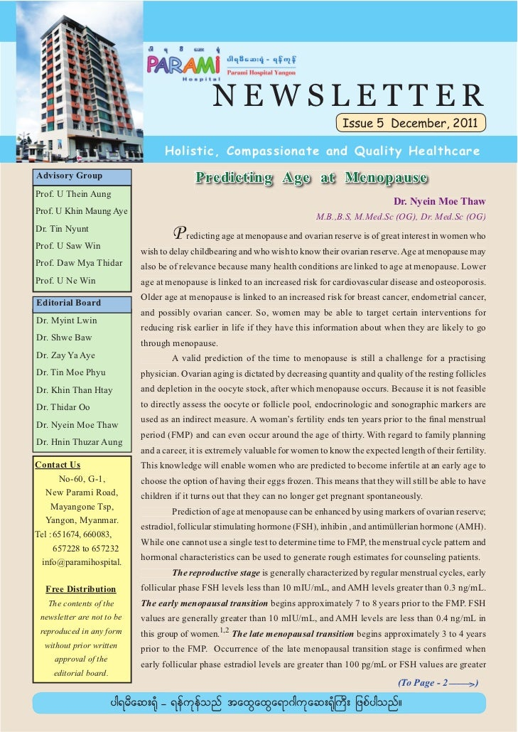 NEWSLETTER                                                                                    Issue 5 December, 2011      ...