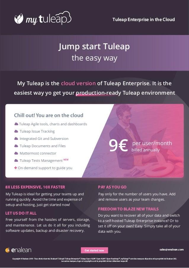 Datasheet Tuleap Enterprise and myTuleap