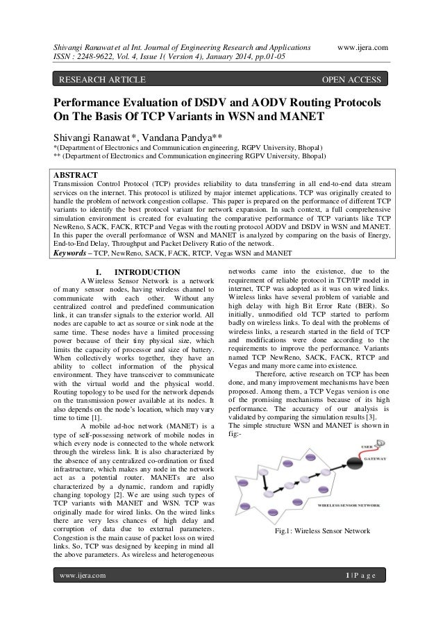 Shivangi Ranawat et al Int. Journal of Engineering Research and Applications ISSN : 2248-9622, Vol. 4, Issue 1( Version 4)...