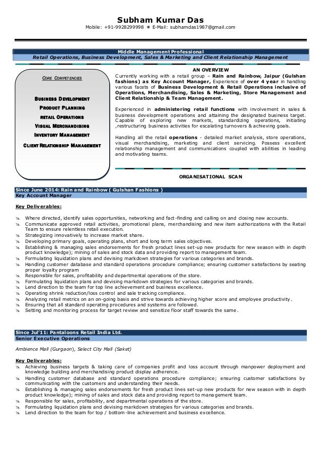 restructuring manager resume