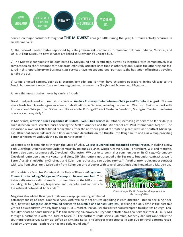 2015 Year in Review of Intercity Bus Service in the United