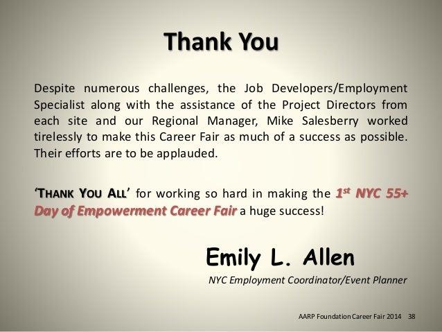 career fair thank you