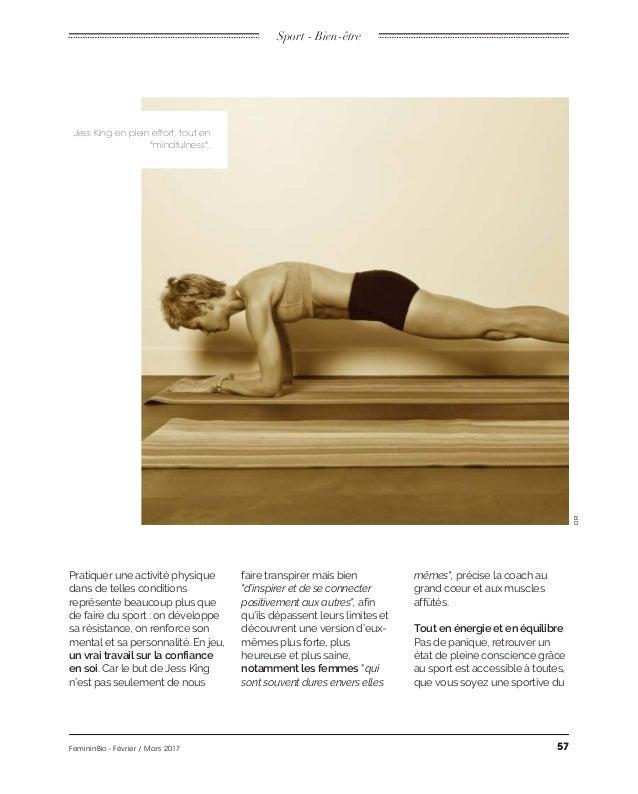 """Sport - Bien-être Jess King en plein effort, tout en """"mindfulness"""". DR un vrai travail sur la confiance en soi notamment l..."""