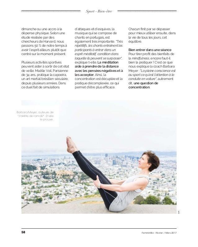 """Sport - Bien-être Barbara Meyer, auteure de """"J'arrête de ramollir"""". Et elle le prouve. DR La méditation aide à prendre de ..."""