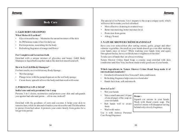 AMWAY BOOKLET - ENGLISH - 12-09-2012