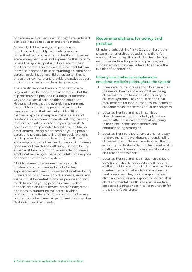 looked after children essay Extracts from this document introduction national diploma health and social care unit 10 caring for children and young people sarah-jane burke p1 explain why children and young people may need to be looked after away from their families.
