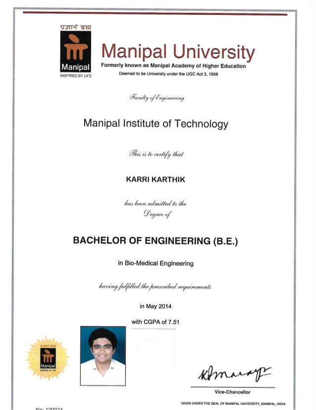B.Tech. Degree Certificate