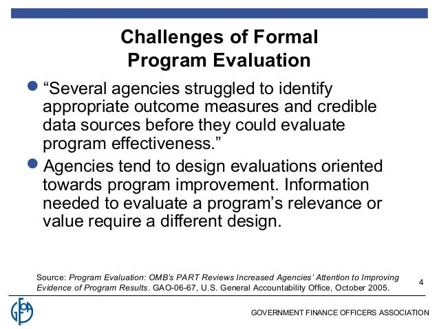 Gfoa 12 15 11 program evaluation and service level analysis fandeluxe Choice Image