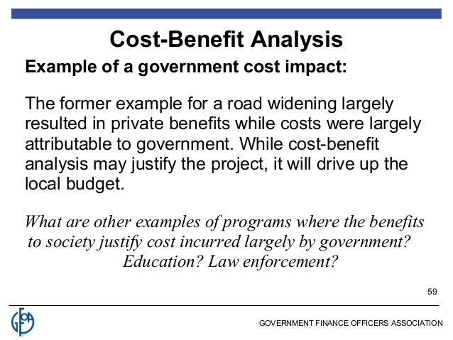 Cost Benefit Analysis Example  CityEsporaCo
