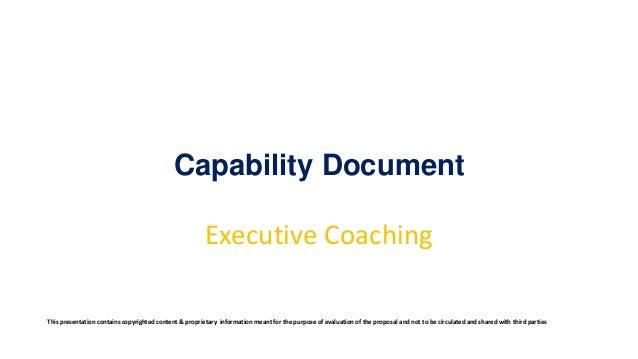 Capability Document Executive Coaching