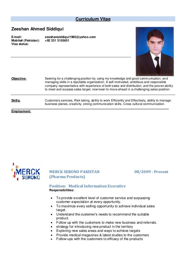 zeeshan international cv