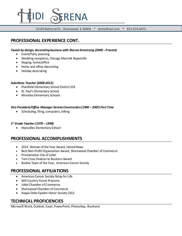 1st time resume
