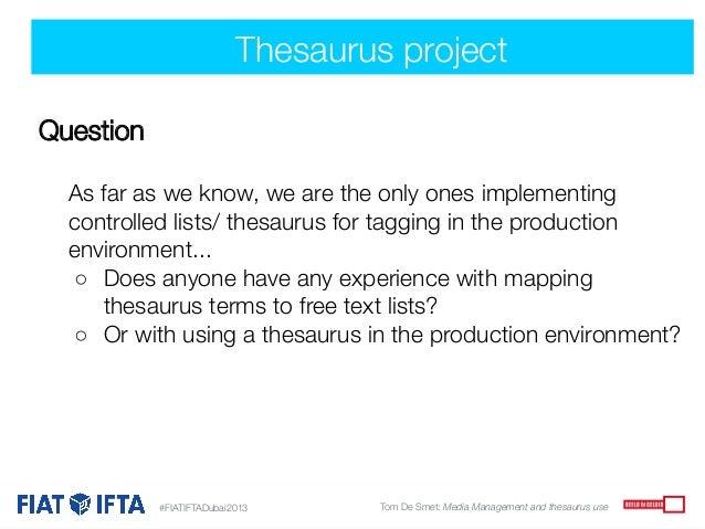 project thesaurus