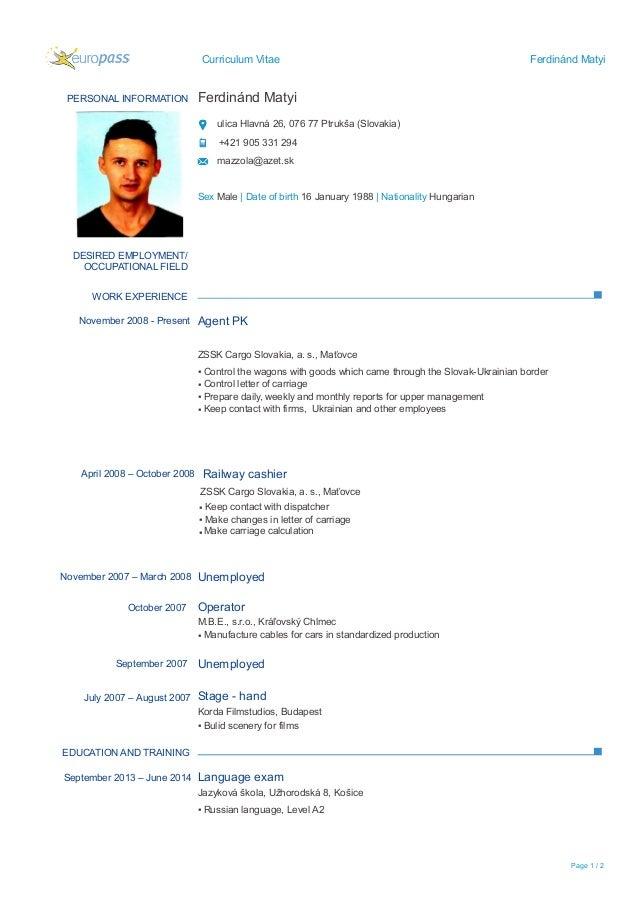 CV - English