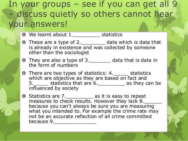 In your groups – see if you can get all 9 – discuss quietly so others cannot hear your answers!  We learnt about 1.______...