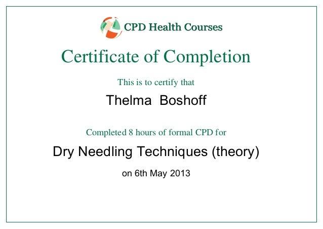 Dry Needling Courses Thelma Boshoff-2
