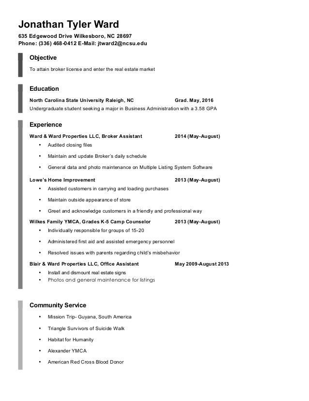 resume jonathan tyler ward pdf