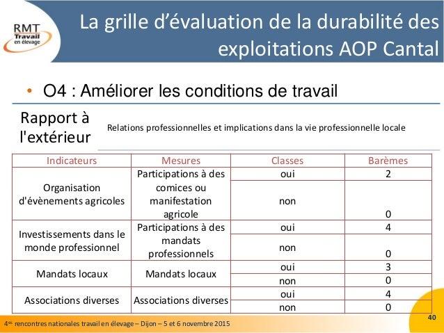 Retour sur la construction et l utilisation d une grille d - Grille d evaluation des risques professionnels ...