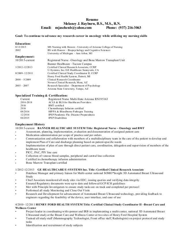 mrayburn resume