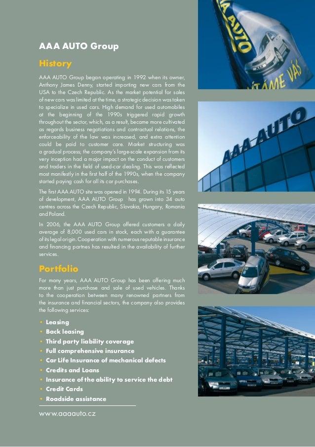 Aaa Car Loans >> Corporate Brochure Aaa Auto Group N V 1