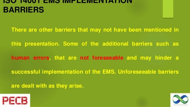 implementing ems reccomendations final Building an environmental management system (ems) might sound like  as  you design and implement the ems, ask the following questions:.