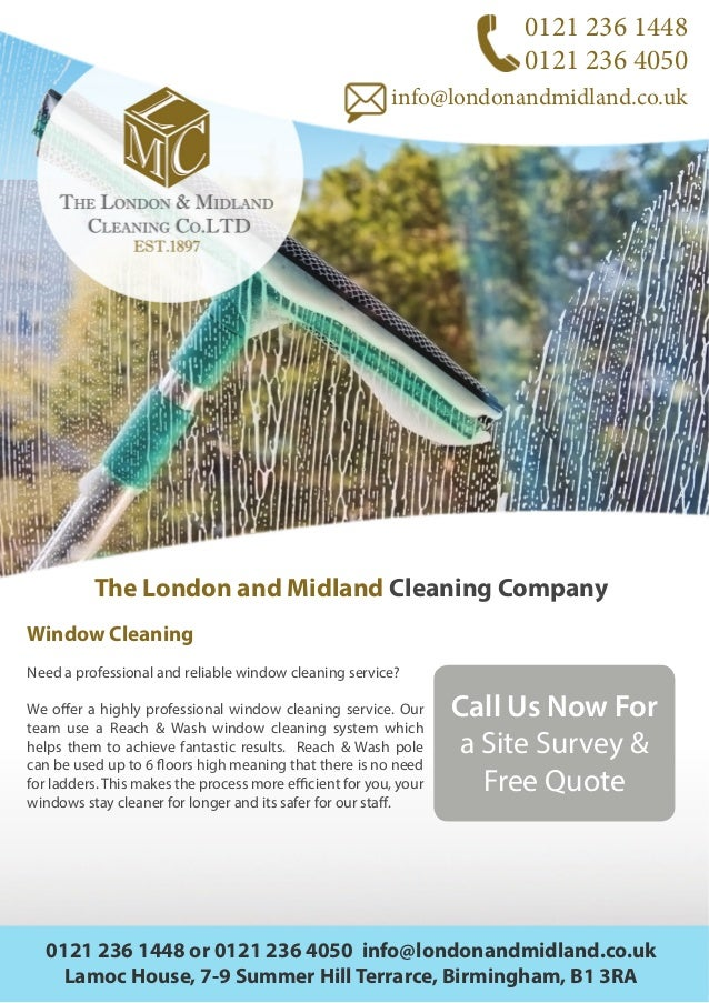 London Amp Midland Cleaning Company Flyer A4