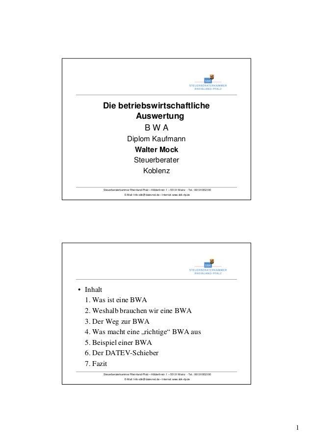 1 Steuerberaterkammer Rheinland-Pfalz – Hölderlinstr. 1 – 55131 Mainz - Tel.: 06131/952100 E-Mail: Info-sbk@datevnet.de – ...