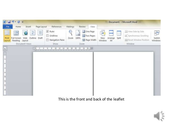 create a pamphlet in word