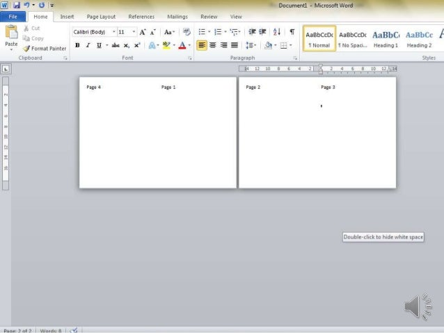 how to make a page break in word 2010