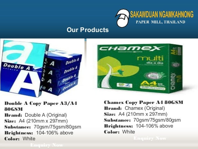 A4 paper manufacturer in thailand