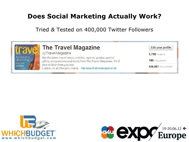 Does Social Marketing Actually Work?  Tried& Testedon400,000TwitterFollowers