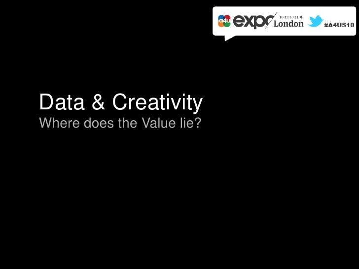Data & CreativityWhere does the Value lie?