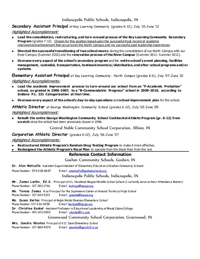 cinningeradminstrative resume june2015 with reference contact info