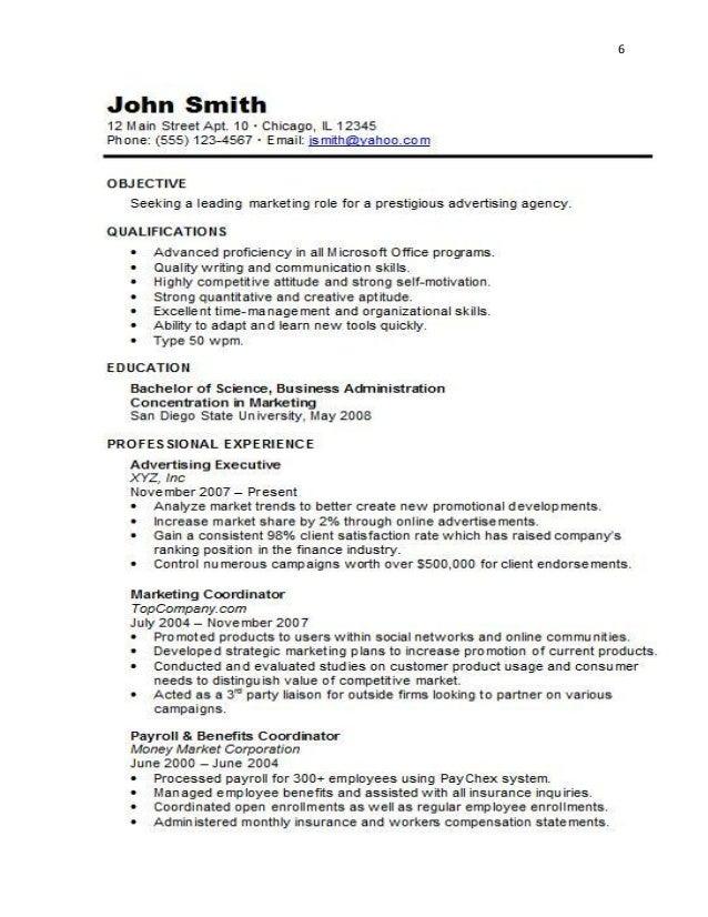 6; 7. 7  Functional Resume/ ...