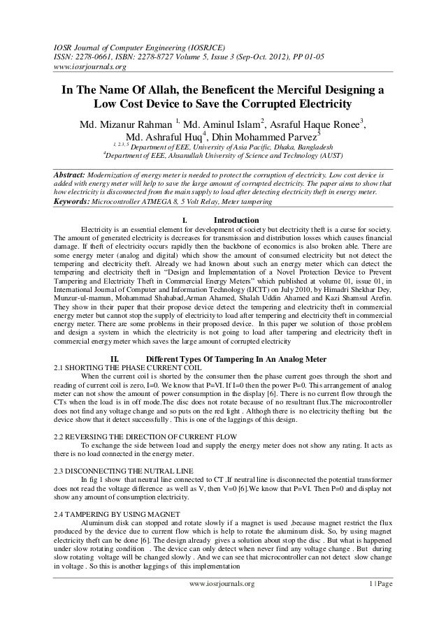 IOSR Journal of Computer Engineering (IOSRJCE) ISSN: 2278-0661, ISBN: 2278-8727 Volume 5, Issue 3 (Sep-Oct. 2012), PP 01-0...