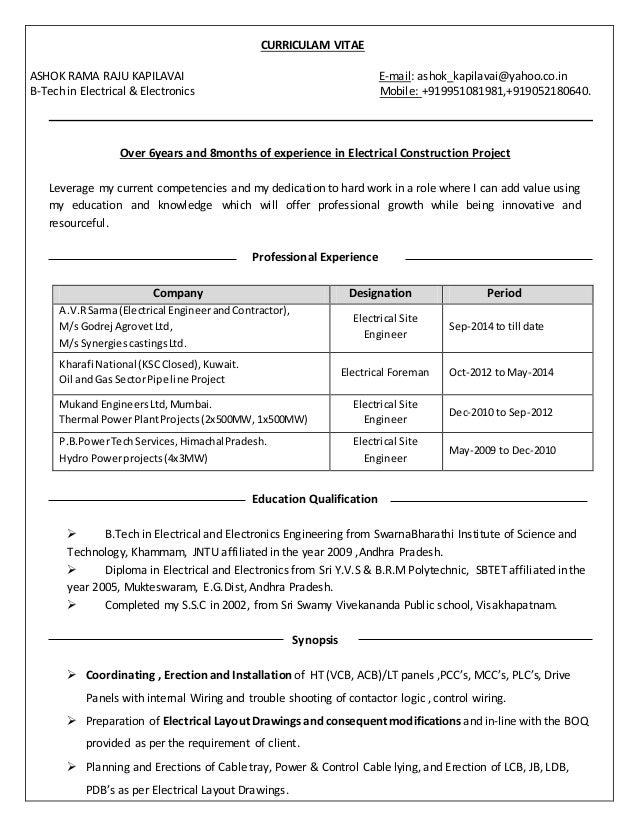 ashok resume till date