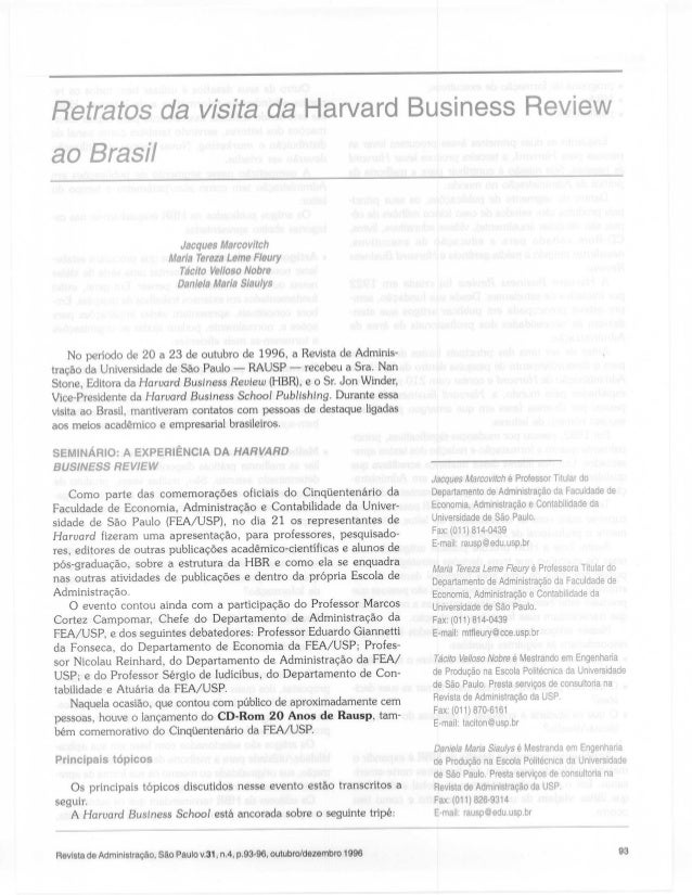 Retratos da Visita da Harvard Business Review ao Brasil - RAUSP 1996 (1)