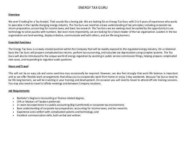 tax accountant job description