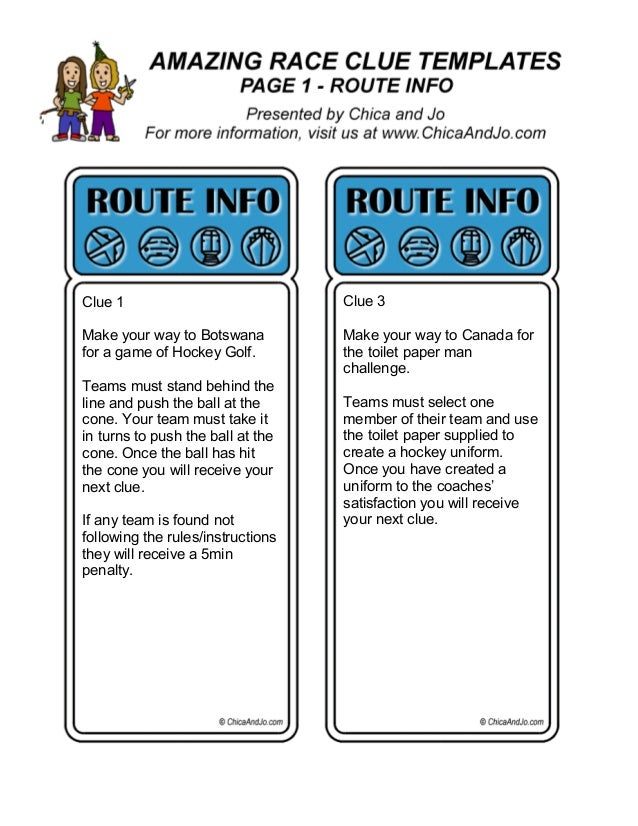 amazing race birthday party templates - 2014 dhc amazing race clues