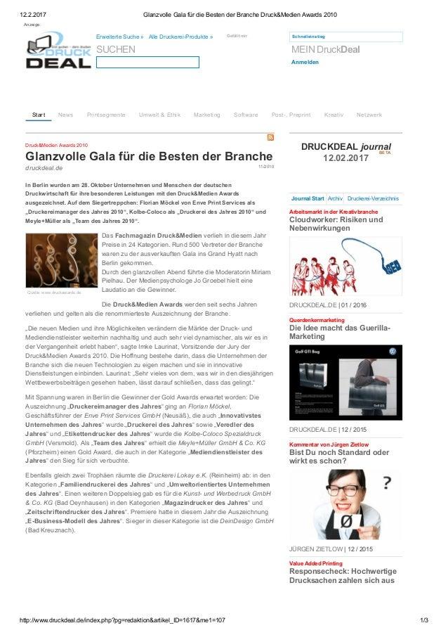 12.2.2017 GlanzvolleGalafürdieBestenderBrancheDruck&MedienAwards2010 http://www.druckdeal.de/index.php?pg=redakti...