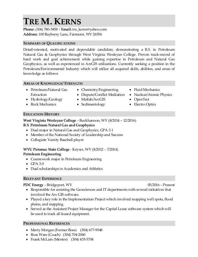 Industry Resume