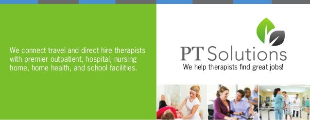 We connect travel and direct hire therapists with premier outpatient, hospital, nursing home, home health, and school faci...