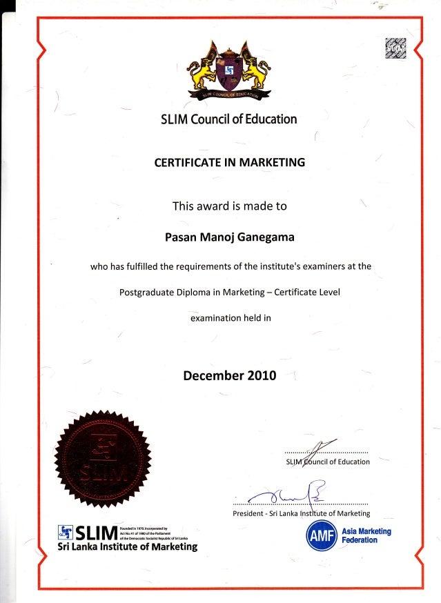 Certificate Slim