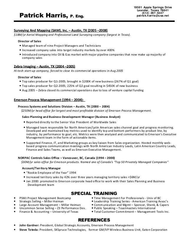 Patrick Harris - Resume