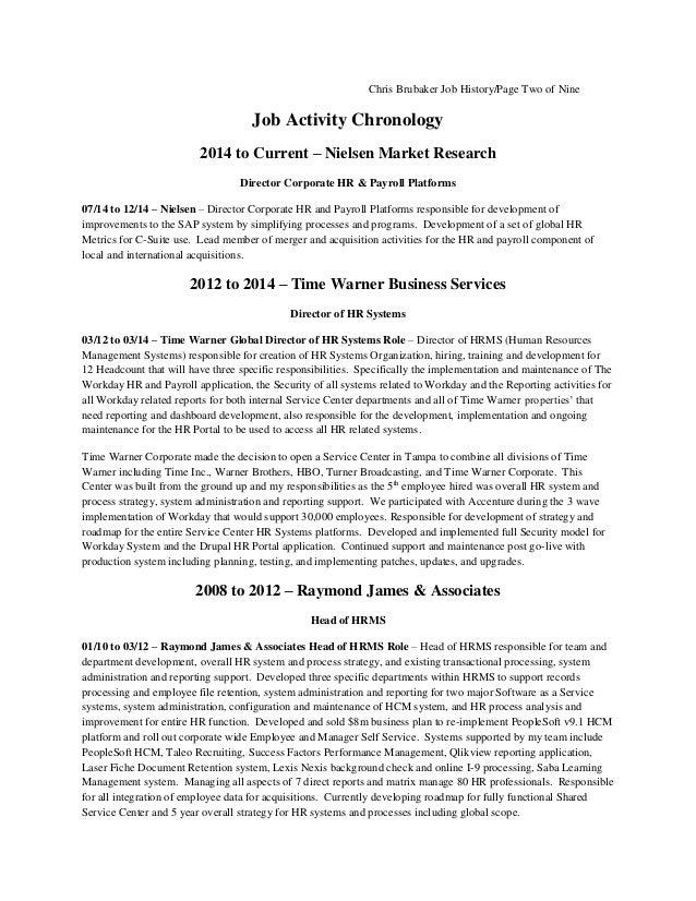 Chris Brubaker Job History Details