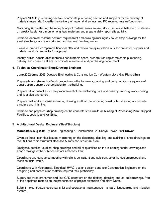 resume m2016 procurement engineer and buyer